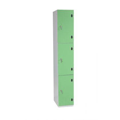 Three Door Wet Area Locker with SGL Laminate Doors   Commercial Washrooms