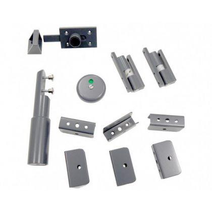 Powdercoated Aluminium Hardware Pack - 12-13mm