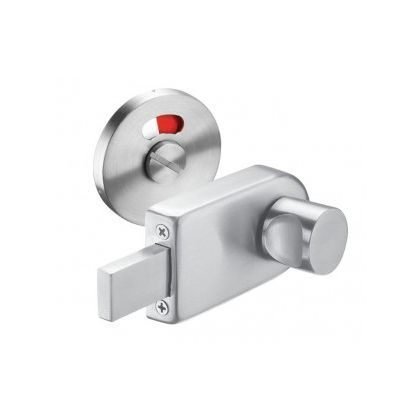 Indicator Bolt with Circle Turn Handle In Satin Stainless Steel - 12-13mm