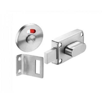 Oval Turn Indicator Bolt Cubicle Lock - Inward or Outward Opening | Commercial Washrooms