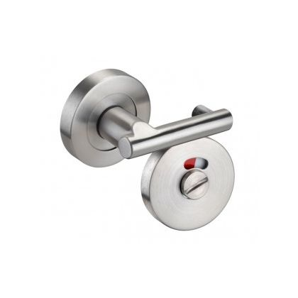 Pilaster Mounted Stainless Steel Lever Arm Toilet Cubicle Lock