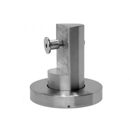 Low Stainless Steel Toilet Cubicle Support Leg (20mm)