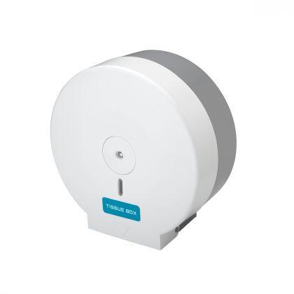 Mini Jumbo Toilet Roll Dispenser - White | Commercial Washrooms