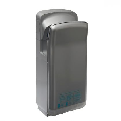 Gusto Storm Grey Vertical Electric Hand Dryer | Commercial Washrooms