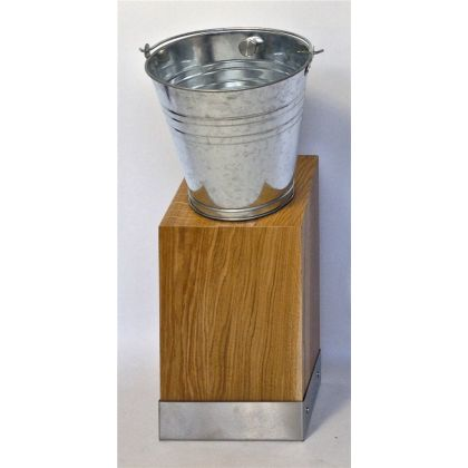 Philip Watts Design Timber Pale Ale Urinal - Stainless Steel Plinth