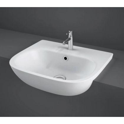 RAK-Tonique 52cm Semi Recessed Basin with 1 Top Hole