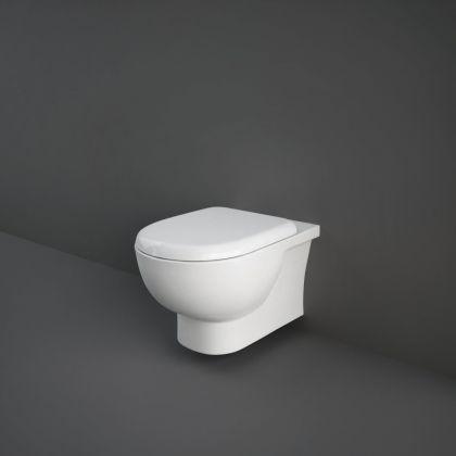 RAK-Tonique Rimless Wall Hung Toilet Pan with Soft Close Seat