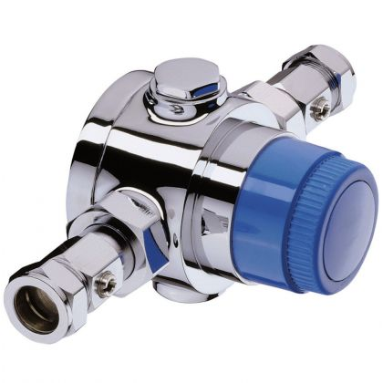 Bristan 22MM Group Thermostatic Mixing Valve (TMV3) with Integral Isolation
