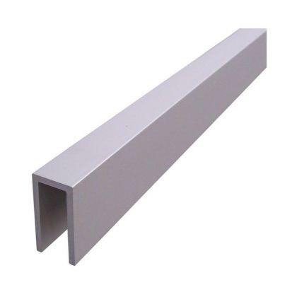 U-Channel Headrail - Satin Anodised Aluminium (2m)