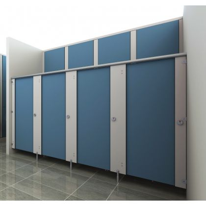 Ultra SGL Toilet Cubicles (High Abuse Range) - 3 Wall Angle
