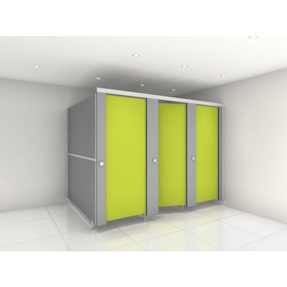 Ultra Fast Delivery SGL Toilet Cubicle Packs - 3 Wall Angle