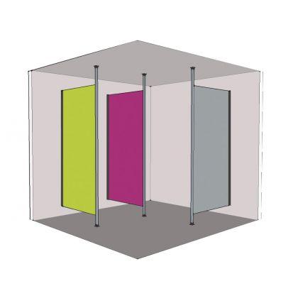 Ultra Fast Washroom Modesty Screens (SGL) (SGLMODSCR)