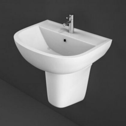 RAK-Compact 55cm Basin with 1 Taphole | Commercial Washrooms