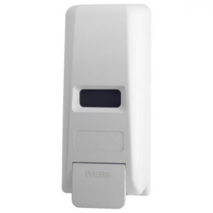 White ABS Plastic Manual Refillable Soap Dispenser