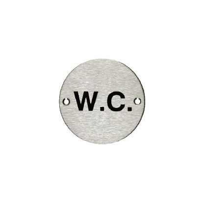 W.C. Sign - Stainless Steel