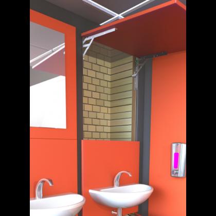 Washroom IPS Duct Panel Hinge System