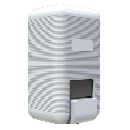 Basic White Plastic 1000ml Liquid Soap Dispenser | Commercial Washrooms