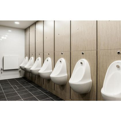 White Ceramic Urinal Bowl (Concealed Cistern)