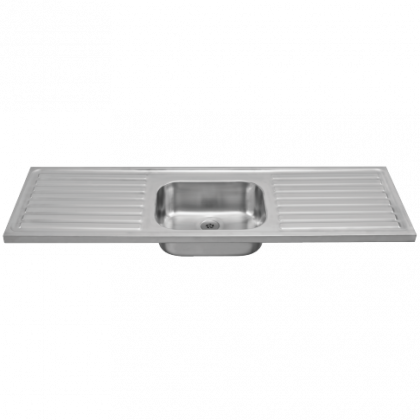 Franke Lab Sink with Central Bowl and Double Drainer | Commercial Washrooms
