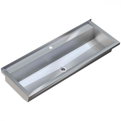 Planox Stainless Steel Washtrough with Tap Holes | Commercial Washrooms