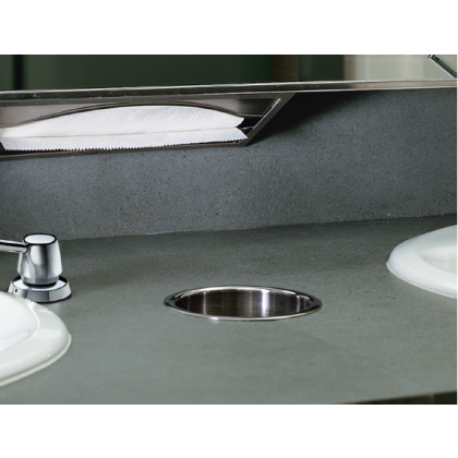 Bobrick Stainless Steel Counter Mounted Circular Waste