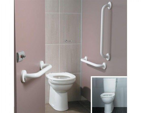 Ideal Standard Toilet : Ideal standard doc m ambulant close coupled toilet pack blue rails