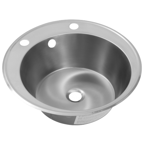 Franke Round Stainless Steel Inset Wash Hand Basin With 2 Tap Holes Sanitaryware
