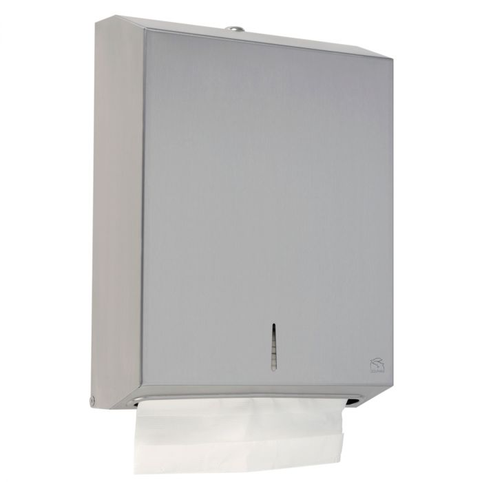Dolphin Satin Stainless Steel Maxi Paper Towel Dispenser