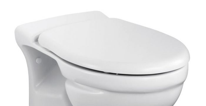Ideal Standard Toilet : Ideal standard alto back to wall toilet seat and cover standard or