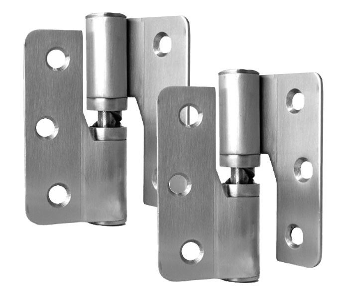 Gravity Hinge with Bolt Through Fixings - Marine Grade Satin Stainless Steel