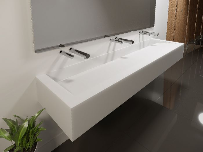 1800mm Conceal Corian Wash Trough