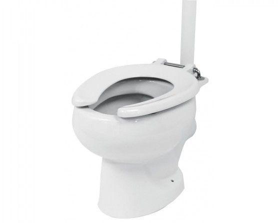 Open Front Toilet Seat.Open Front Toilet Seat Ring For School Toilet Pans Black Or White