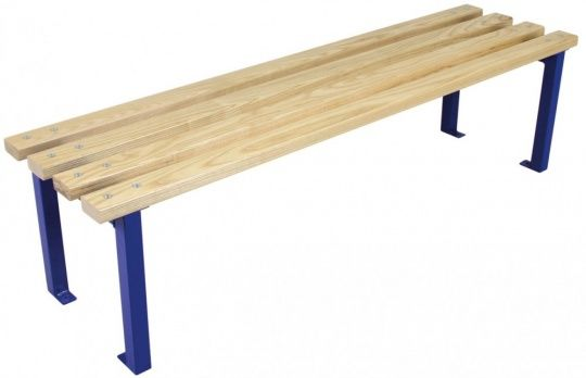 Wooden Slatted Changing Room Bench Seat 400mm Deep 1500mm