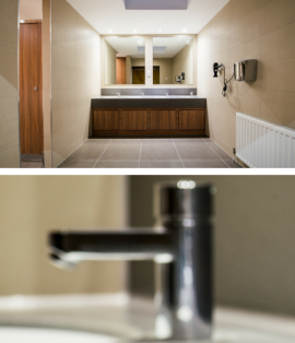 Male Washroom Refurbishment for Wimbledon Park Golf Club, London