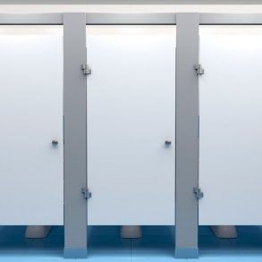 What materials are toilet cubicles made from?