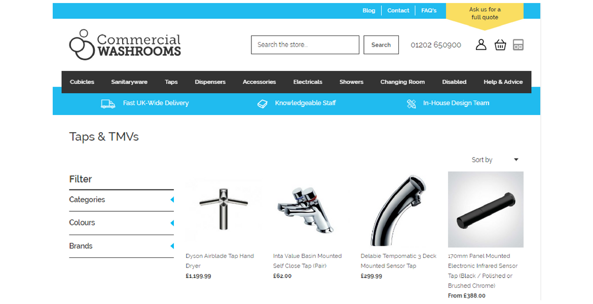 Commercial Washrooms New Website