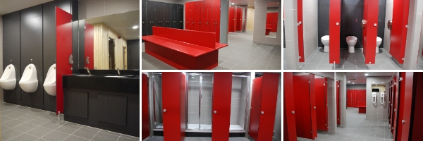 Junction Sports Centre Gym Changing Room and Shower Refurbishment   Commercial Washrooms