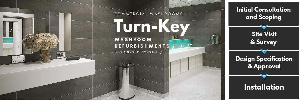 Washroom Refurbishment | Turn-Key Solution | Commercial Washrooms