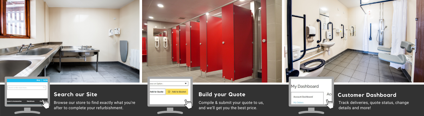 Specialists in Washroom Supplies | Urinals, Toilet Cubicles, Taps & More | Commercial Washrooms